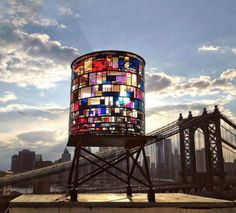 What a great take on the ubiquitous water towers you see all over NYC. Beautiful.