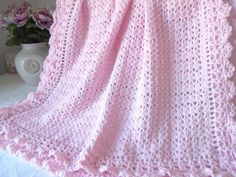 Crocheting: Victorian Crochet Baby Blanket CCP