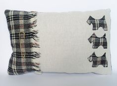 Tartan Scottie Dog Cushion. £21.00, via Etsy.