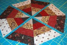 bitty bits & pieces: Scrappy Kaleidoscope Tutorial, this pattern would be fun Christmas tree skirt too.