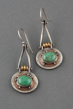Suspended Turquoise Earrings by Maggie J