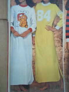 Long Nightshirts.I had the Garfield one!!! forgot all about it until I saw this. LOL