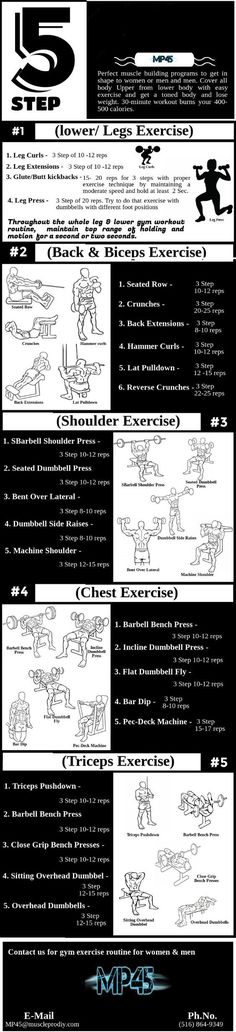 Perfect #muscle #building #programs to get in shape for women or men and men. Cover all body Upper from lower body with easy exercise and get a toned body and lose weight. 30-minute workout burns your 400-500 calories.
