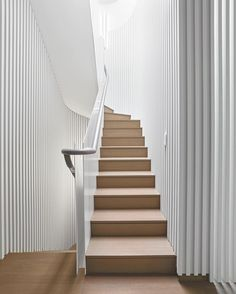 For this week's photo contest, we want to see your favorite stairways! Tag your images with #idpicks and our editors will post their favorite next Wednesday. Pictured here, a West Village duplex penthouse by @gluckmantang and Nina Seirafi Interior Design features battens in painted engineered wood that surround the staircase connecting to its roof terrace. : Bruce Damonte. #architecture #interior #design #interiordesign #staircase #nyc #westvillage... - Interior Design Ideas, Interior Decor…