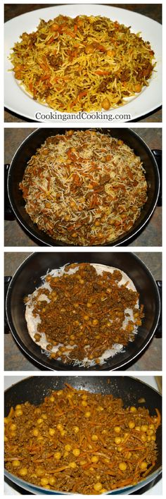 Rice with Chickpea and Beef Recipe pulao Afghan Food Recipes, Rice Recipes, Beef Recipes, Great Recipes, Cooking Recipes, Favorite Recipes, Healthy Recipes, Sweets Recipes, Yummy Recipes