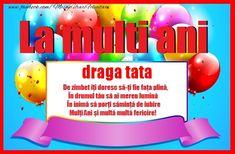 Felicitari de zi de nastere pentru Tata - La multi ani tata! Multa sanatate si fericire! - mesajeurarifelicitari.com Character, Lettering