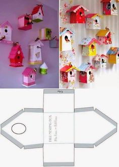 Casette a go go 🌼 Diy Paper, Paper Art, Paper Crafts, Decoration Creche, Diy For Kids, Crafts For Kids, Diy And Crafts, Arts And Crafts, Paper Houses
