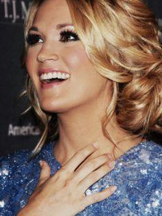 Carrie Underwood hair & makeup