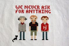Tell Em Steve Dave (TESD) cross stitch from hotcakes: Brushes With Celebrity!