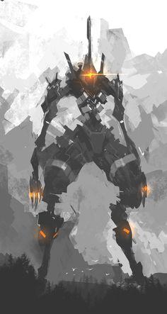 Strider Bot, Bernard Chan on ArtStation at https://www.artstation.com/artwork/kG24z