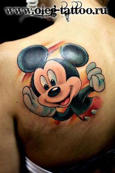 Tatoo- Mickey Tattoo by Oleg Shepelenko Mickey Tattoo, Mickey Mouse Tattoos, Mickey Mouse Art, Disney Mouse, Tattoo Disney, Family Tattoos, Love Tattoos, Body Art Tattoos, Tattoos For Guys
