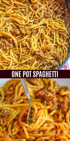 Spaghetti is one of those meals always on my back burner. No idea what's for dinner? Spaghetti to the rescue. Thankfully, it doesn't have to take a ton of pots and pans anymore, this one pot spaghetti One Pot Spaghetti, One Pot Pasta, Spaghetti Dinner, Simple Spaghetti Recipe, Spaghetti With Ground Beef, Spaghetti With Meat Sauce, Spaghetti Beef Recipe, Easy Spagetti Recipes, Creamy Spaghetti