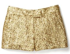 Wear these glittery shorts over a pair of tights for a modern look. Sequin Shorts, $69, joefresh.com.