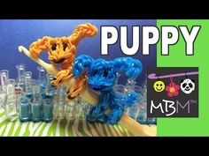 Rainbow Loom PUPPY DOG Pencil Hugger. Designed and loomed by Made By Mommy. Click photo for YouTube tutorial. 05/23/14.