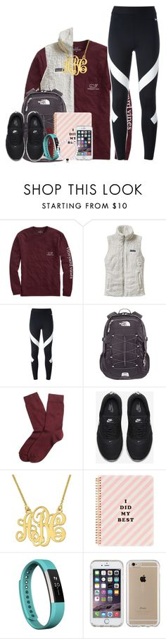 """""""&&-School"""" by southern-prep-xo ❤ liked on Polyvore featuring Vineyard Vines, Patagonia, NIKE, The North Face, Brooks Brothers, ban.do, Fitbit and Speck"""