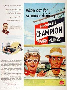 Champion spark plugs, 1953