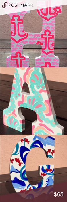 Custom Door Letters – Hand-painted - Pick Your Own Letter & Pattern. Children's Room in my Go Coastal Studios