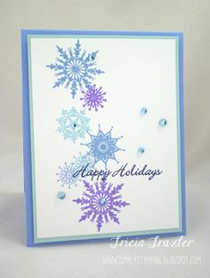 Super Simple project with the Winter Cheer Stamp TV kit.