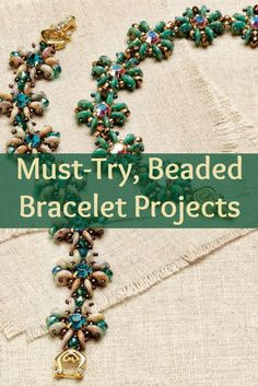 Learn how to make beaded bracelets the right way with these 3 FREE beading projects! #beading #braceletmaking #DIY