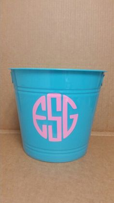 Monogramed pail