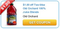 $1.00 off Two 64oz Old Orchard 100% Juice Blends New coupons and deals for active seniors daily at www.SeniorSpotChicago.com