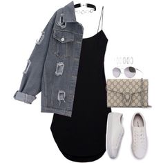 A fashion look from October 2016 featuring short dresses, boyfriend jacket and faux leather sneakers. Browse and shop related looks. Cute Fashion, Teen Fashion, Fashion Outfits, Womens Fashion, Trendy Outfits, Cool Outfits, Summer Outfits, Simple Outfits For Teens, Simple Casual Outfits