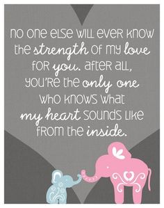 Strength of Love Baby Quotes