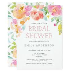 Sweet Floral | Bridal Shower Invitation - invitations custom unique diy personalize occasions