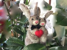 Needle-Felted Hare Wedding Cake Topper