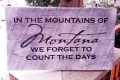 Rustic Barn Wood Custom Montana Vinyl Sign 195 x by lauraleidesign, $28.00