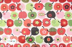 Apfelstoff Ѽ Baumwollstoff Äpfel Stoff rot retro