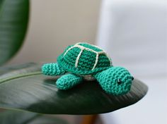 Mini turtle crochet turtle toy small turtle by cutetoysbycristina