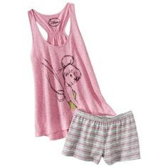 Disney® Juniors Tank & Short Sleep Set - Pink Tinkerbell  $16.99