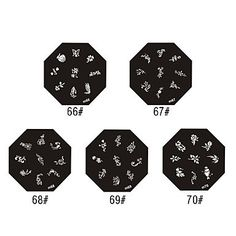 Kaifina Rose Style Nail Art Stamping Image Template Plate -- Click image to review more details.