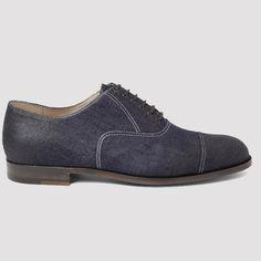 Fancy - Bottega Veneta Oiled Denim Oxford Shoes