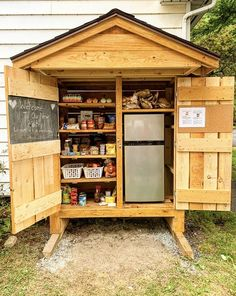 Little Free Pantry, White River Junction, Tiny Pantry, Pantry Inspiration, Islamic Center, University Of Arkansas, Craft Show Displays, Farm Stand, Farm Life