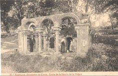Santiago de Compostela. 1915 SANATORIO DE CONJO -GRUTA DE LA FUENTE DE LA VIRGEN  (Foto Thomas )