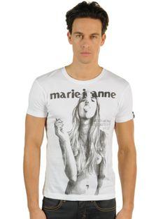 T-shirt blanc mode de Candy for Richmen