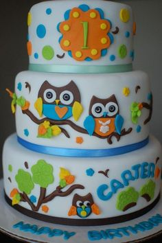 Owl cake for Chasey boy!