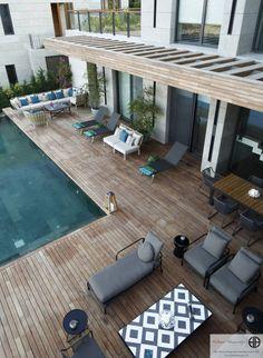 """Villa in Mandarin Oriental"" Bodrum : Modern Bahçe Hakan Helvacıoğlu / H2C"