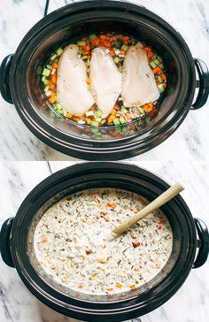 Slow Cooker Chicken Wild Rice Soup   pinchofyum.com