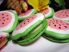 watermelon macarons...!