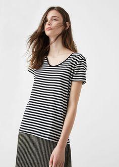 Cotton t-shirt - T-shirts for Woman | MANGO United Kingdom