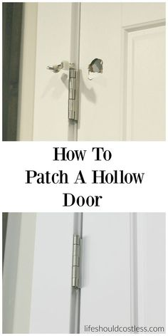 How to patch a hollow door. Save yourself some cash by repairing instead of replacing & How to patch a hole in a door or a wall | DIY Diva | Pinterest ... Pezcame.Com