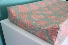 coral beehives contoured changing pad cover by iviebaby on Etsy