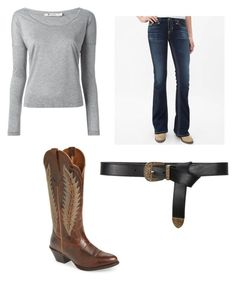"""Country concert"" by sami-cardinals on Polyvore featuring T By Alexander Wang, Big Star, Ariat, Alberta Ferretti and country"