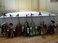 "SALE : Dollhouse Miniature ""Henry VIII & 6 Wives Marionettes"" - Artist & OOAK | eBay"