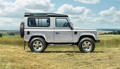 Iconic design of the rugged Range Rover Defender