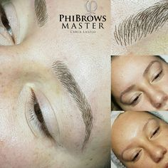 Eyebrows microblading . Phibrows tools , tehnique and pigments