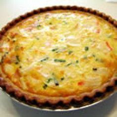 Louisiana Crab Quiche    Add a little cayenne pepper and you will love it!!